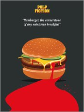 Gallery Print  Burger, Pulp Fiction (Englisch) - Golden Planet Prints