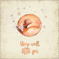 Wandsticker Sleep well little fox