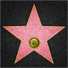 Gallery Print  Leerer Theater-Stern, Hollywood Boulevard