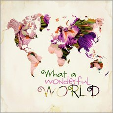 Wandsticker  What A Wonderful World Map - Mandy Reinmuth