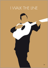 Wandaufkleber  No010 MY Johnny Cash Minimal Music poster - chungkong