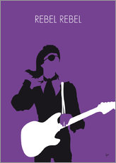 Wandsticker  No031 MY BOWIE Minimal Music poster - chungkong