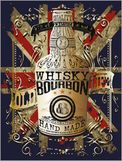 Gallery Print  Flasche Whisky