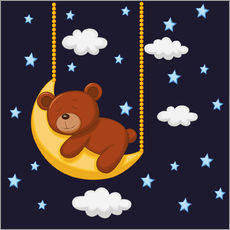 Wandsticker  Gute Nacht Teddy - Kidz Collection