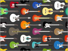 Gallery Print  Gitarren-Muster - Kidz Collection