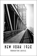 Wandsticker Historisches New York, Manhattan Bridge