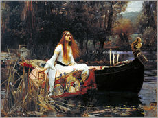 Wandsticker  Die Dame von Shalott - John William Waterhouse