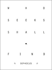 Wandsticker  Who seeks shall find - Sophokles - dear dear