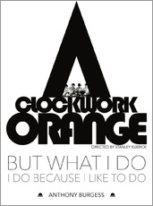 Wandsticker  Clockwork orange - Stanley Kubrick - dear dear