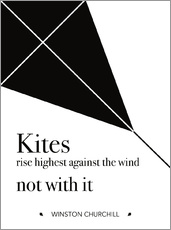 Wandsticker  Kites - Winston Churchill - dear dear