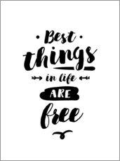 Wandsticker  Best things in life are free - dear dear