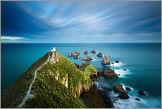 Gallery Print  Nugget Point Lighthouse, Nugget Point, Otago, South Island, New Zealand, Pacific - John Alexander