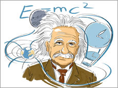 Wandsticker Albert Einstein, Physiker
