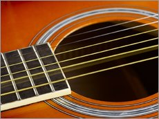 Wandsticker  Guitar strings at rest and vibrating