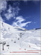 Gallery Print  Ski lift and slopes - Gustoimages