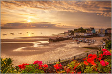 Gallery Print  Tenby, Pembrokeshire, Wales, United Kingdom, Europe - Billy Stock