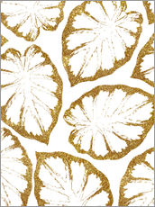 Wandsticker  Monstera Gold - Uma 83 Oranges