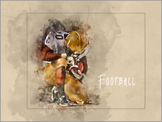Gallery Print  American Football - Peter Roder