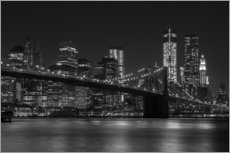 Wandaufkleber  Brooklyn Bridge bei Nacht - Thomas Klinder