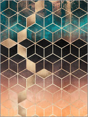 Gallery Print  Ombre Dream Cubes - Elisabeth Fredriksson