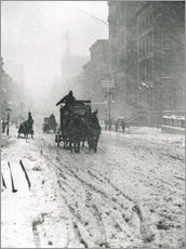 Wandsticker  Winter - Fifth Avenue - Alfred Stieglitz