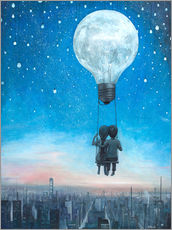 Gallery Print  our love will light the night - Adrian Borda
