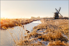 Gallery Print  Windmill near Sande at cold winter morning - Reemt Peters-Hein