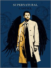 Wandsticker  Castiel, Supernatural - Golden Planet Prints