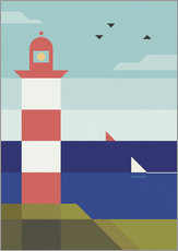 Wandsticker  Lighthouse - Antony Squizzato