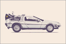 Wandsticker  Delorean - Florent Bodart