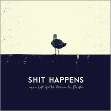 Wandsticker  Shit Happens - Romina Lutz