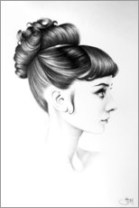 Hartschaumbild  Audrey Hepburn No. 4 - Ileana Hunter