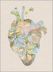 Wandsticker  A Traveler's Heart - Bianca Green