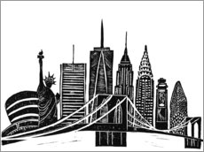Gallery Print  LINOCUT NEW YORK - Bianca Green