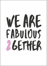 Wandsticker  Fabulous together - Amy and Kurt