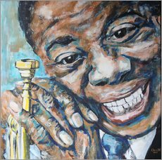 Gallery Print  What a Wonderful World, Louis Armstrong - Christel Roelandt