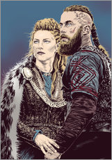 Gallery Print  The Vikings - Paola Morpheus