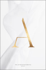 Gallery Print  GOLD LETTER COLLECTION A - Stephanie Wünsche