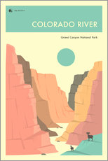 Wandsticker  GRAND CANYON NATIONAL PARK - Jazzberry Blue