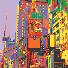 Wandaufkleber  Pop-Art New York City - Jaysanstudio