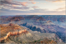 Gallery Print  Sonnenuntergang über dem Grand Canyon Südrand, USA - Matteo Colombo