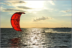 Gallery Print  Kite Surfer auf hoher See - HADYPHOTO by Hady Khandani