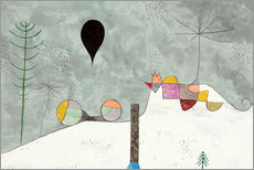 Wandsticker  Winter Bild - Paul Klee
