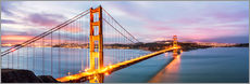 Gallery Print  Panoramic von Golden Gate Bridge, San Francisco, USA - Matteo Colombo