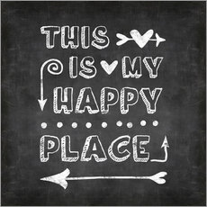 Gallery Print  happy place chalk - Andrea Haase