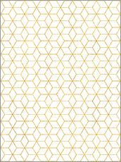 Gallery Print  Gold Geometric - Uma 83 Oranges