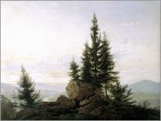 Gallery Print  Elbtal - Caspar David Friedrich