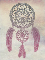 Wandsticker Dream Catcher Rose