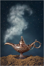Wandsticker Aladdin Magic Lampe mit Rauch