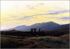 Wandsticker  Ruine Eldena - Caspar David Friedrich